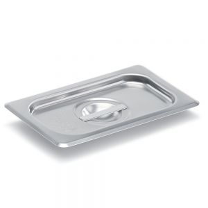Ninth Size Stainless Steel Food Pan Cover, Solid