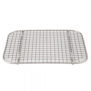 Stainless Steel Wire Grate for 1/2 Size Super Pan V Steam Table Pans