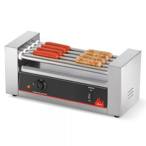 Hot Dog Machine, 9 Rollers, Hot Dog Grill, 24 Hot Dog Capacity