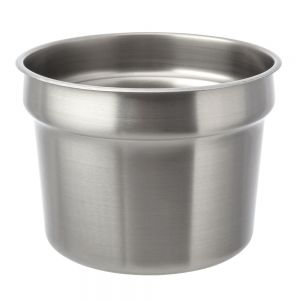 Stainless Steel Round Vegetable Inset Pan - 11 Qt