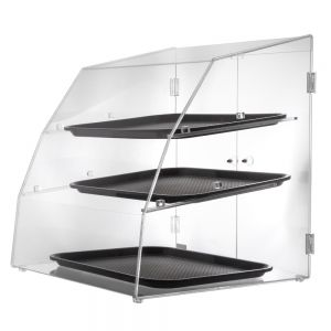 Vollrath LBC1418-3R-06 Curved Front Display Case with 3 Shelves and Rear Door
