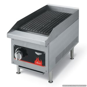 Commercial Charbroiler, Lava Rock and Radiant, Gas, 18 Inch