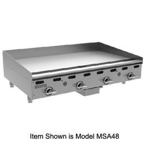 Heavy Duty Gas Griddle, 54,000 BTU, 24 Inch