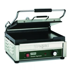 Tostato Supremo Large Italian Style Flat Grill with Timer - 120v