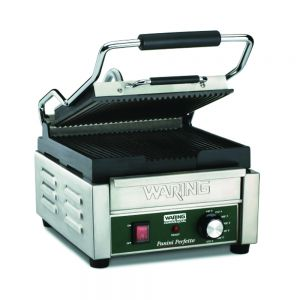 Italian Perfetto Compact Panini Grill with Timer - 120v