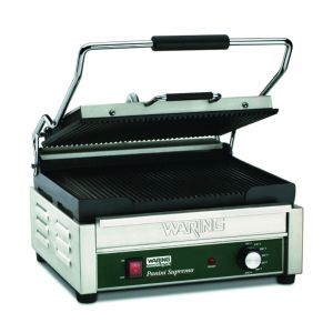 Italian Supremo Large Panini Grill with Timer - 120v