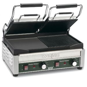 Panini Grill, Double, Half Ribbed/Half Flat Surface