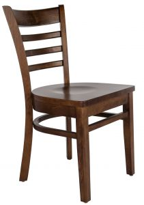 Mahogany Wood Ladder Back Dining Chair w/ Solid Wood Seat