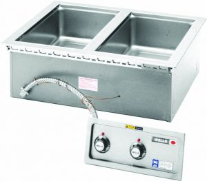 Wells MOD200TDM Top Mount Two-Well Food Pan