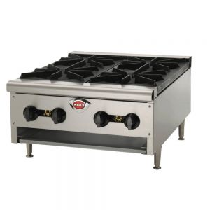 Wells HDHP-2430G Heavy Duty 4 Burner Hot Plate - Natural Gas (Field Convertible to LP)