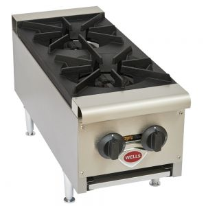 Wells HDHP-1230G Heavy Duty 2 Burner Hot Plate - Natural Gas (Field Convertible to LP)