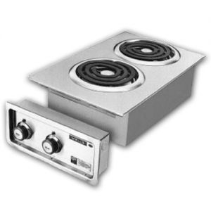 Built-In Hot Plate, 2 Burners, Spiral Elements, Electric Hot Plate