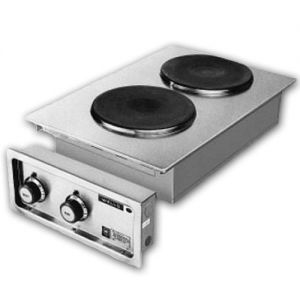 Built-In Hot Plate, 2 Burners, Solid Cast Iron Elements, Electric Hot Plate