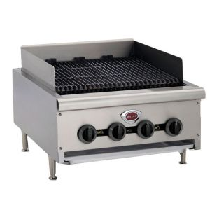 "Wells HDCB-2430G Heavy Duty 24"" Radiant Charbroiler - Natural Gas (Field Convertible to LP)"