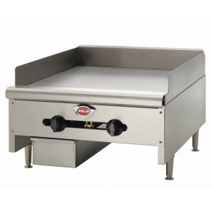 "Wells HDG-2430G Heavy Duty 24"" Countertop Griddle - Natural Gas (Field Convertible to LP)"