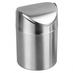 Winco DDSF-101S Mini Waste Can with Swing Lid