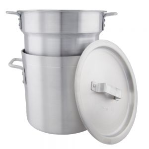 Double Boiler with Cover - 12 Quart