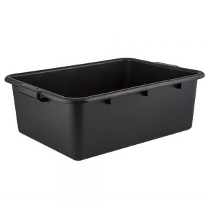 DISH BOX BLACK POLYPROPYLENE