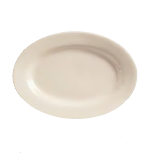 """9-3/8"""" x 6-1/2"""" Princess White Rolled Edge Platter (Case of 24)"""