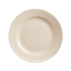 """12"""" Princess White Rolled Edge Plate (Case of 12)"""