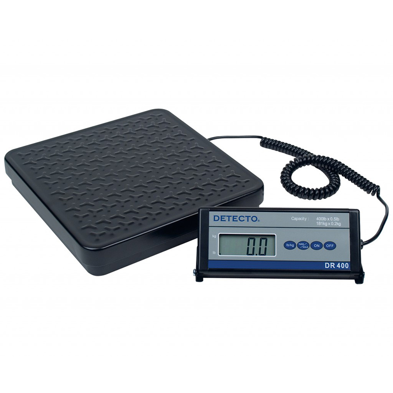 Detecto Electronic Shipping / Receiving Scale, digital, 400 lb. Capacity