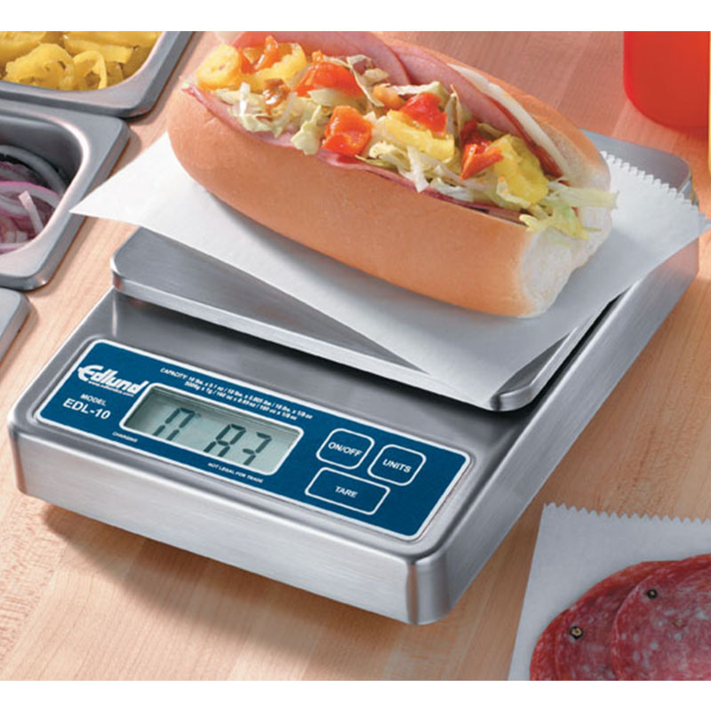 Edlund 10 Lb Digital Multifunction Scale W/ Built In Rechargeable Battery Pack