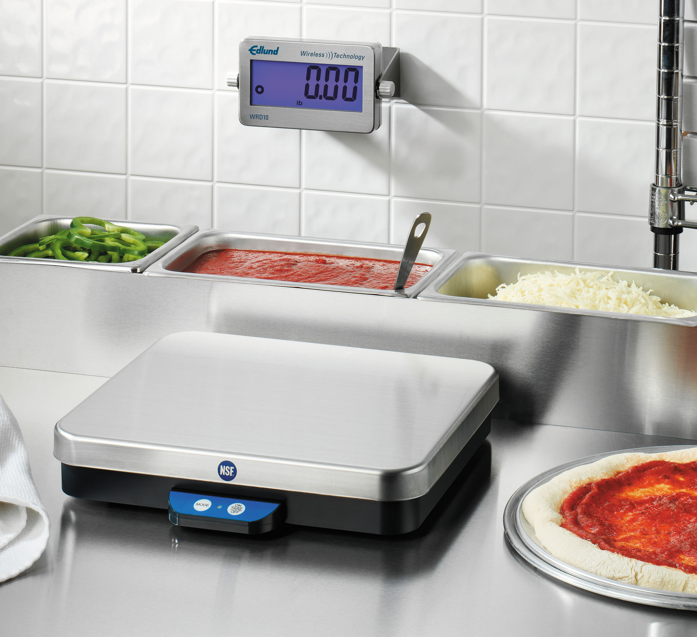 Edlund 10 Lb Wireless Remote Digital Pizza Portion Scale W/ Front Tare Switch