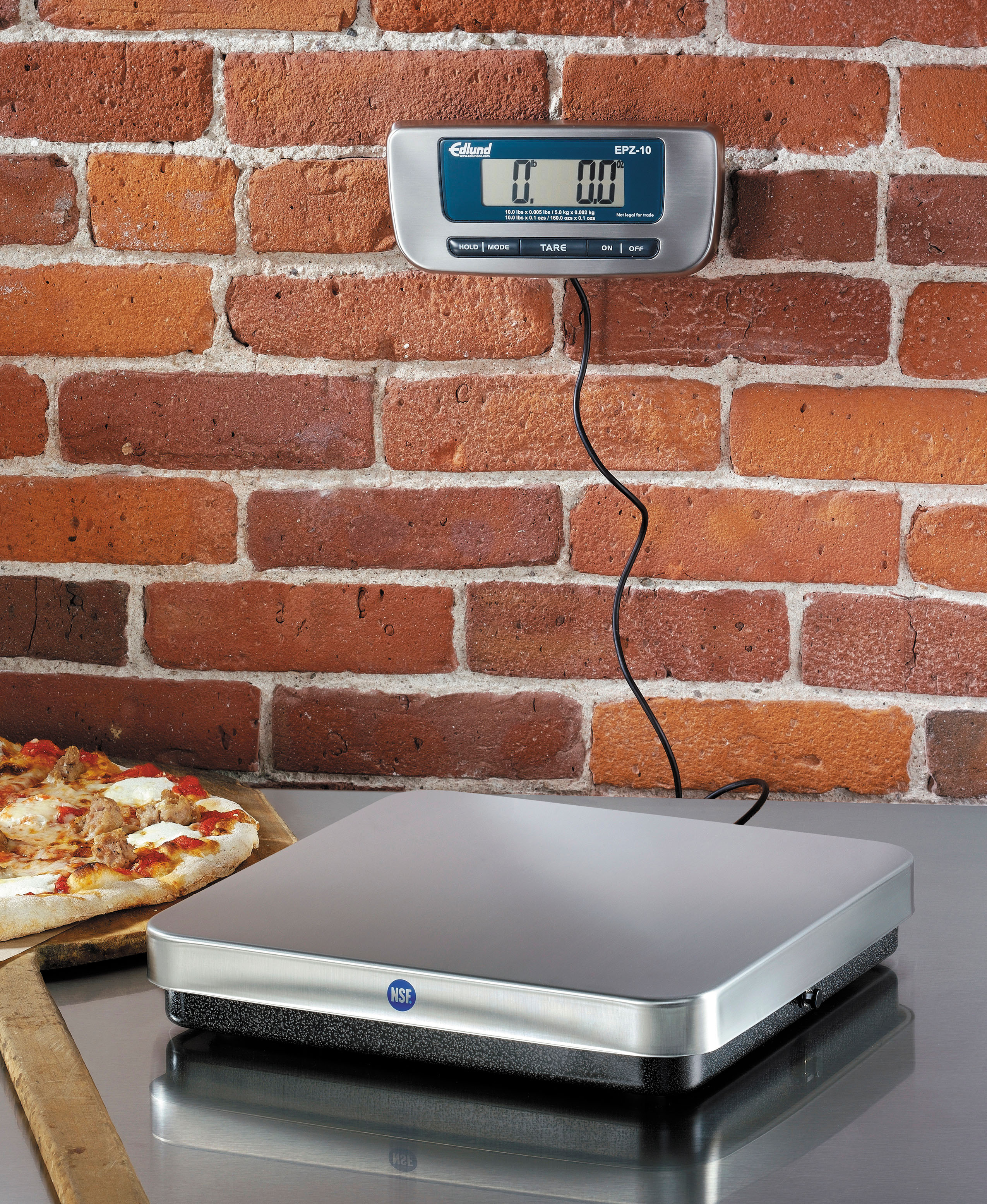 Edlund 5000 g Digital Metric Pizza Scale W/ Front Tare Button