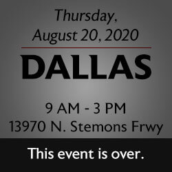 Free Knife Sharpening at the Dallas store! Join us.