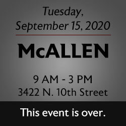 Free Knife Sharpening at the McAllen store! Join us.