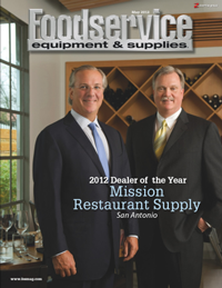 2012 Dealer of the Year Mission Restaurant Supply on the cover of FE&S Magazine