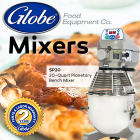 Globe Mixers: Quality. Performance. Value. Shop now at MissionRS.com!