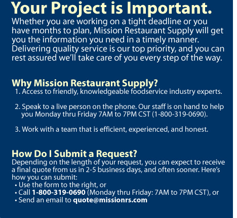 Request a quote infographic